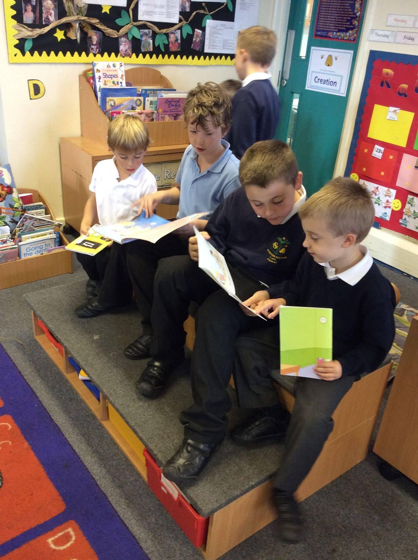 Buddy reading at Stretton Sugwas Academy
