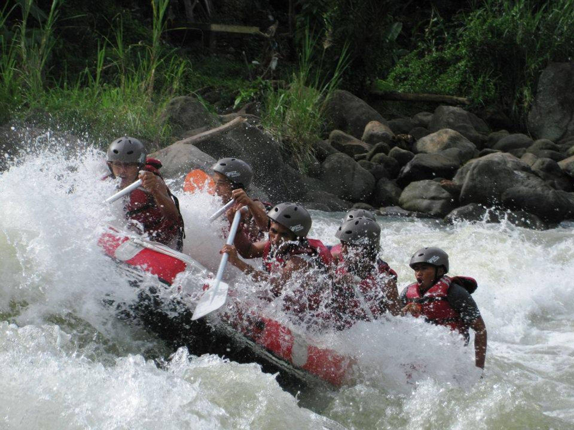 White water rafting, Wampu river, North Sumatra