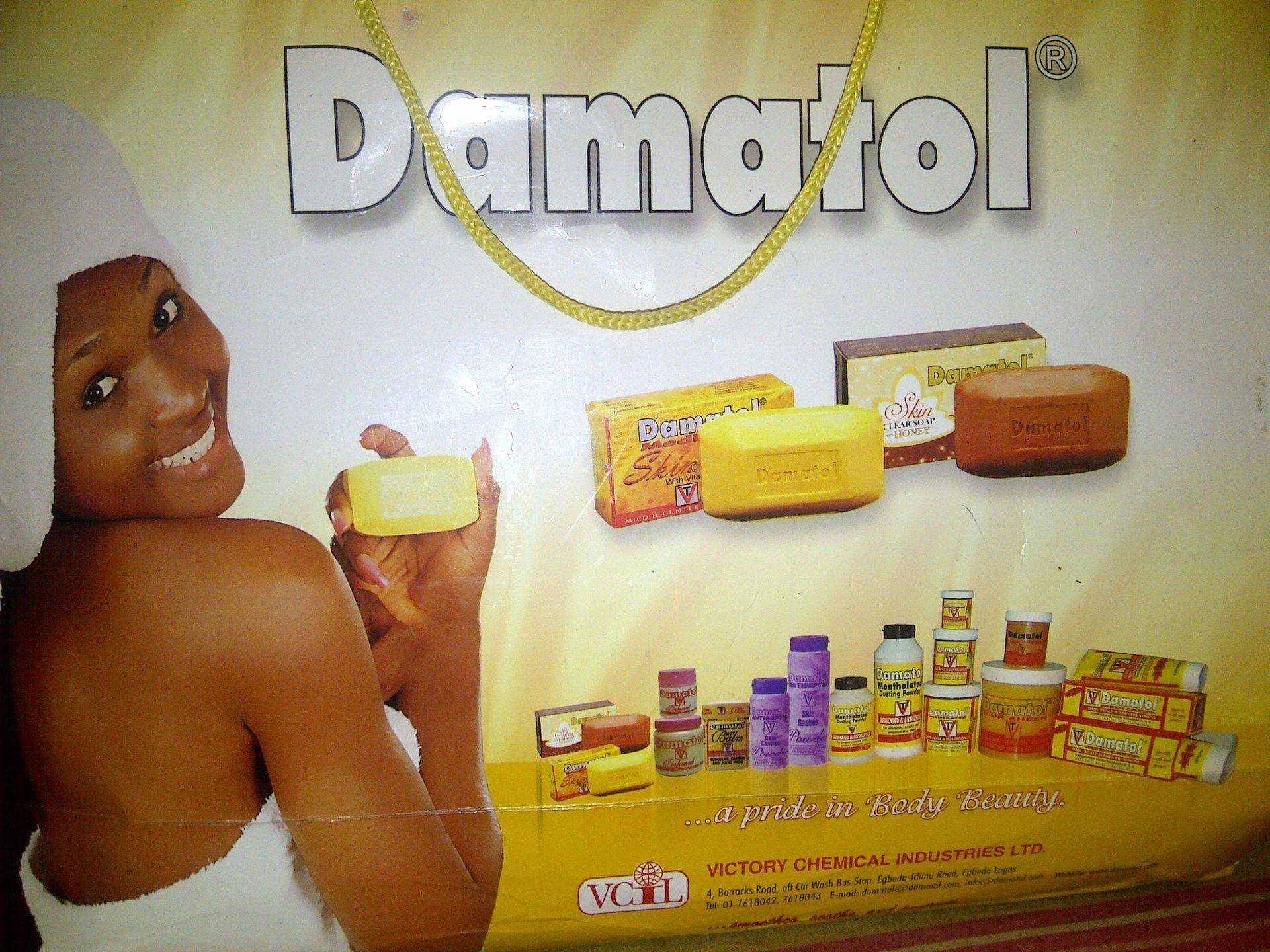 DAMATOL ADVERT WITH JOHANNESBURG NIGERIAN MODEL