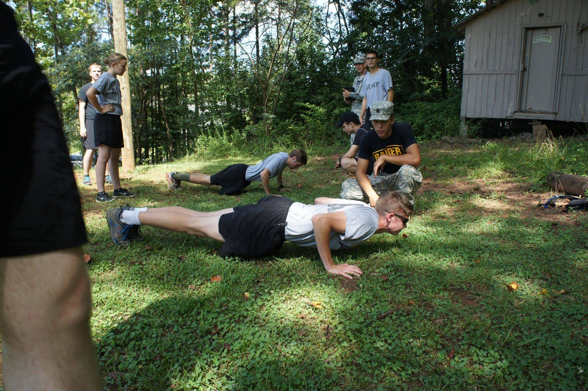 Cadets are cranking out their PT!