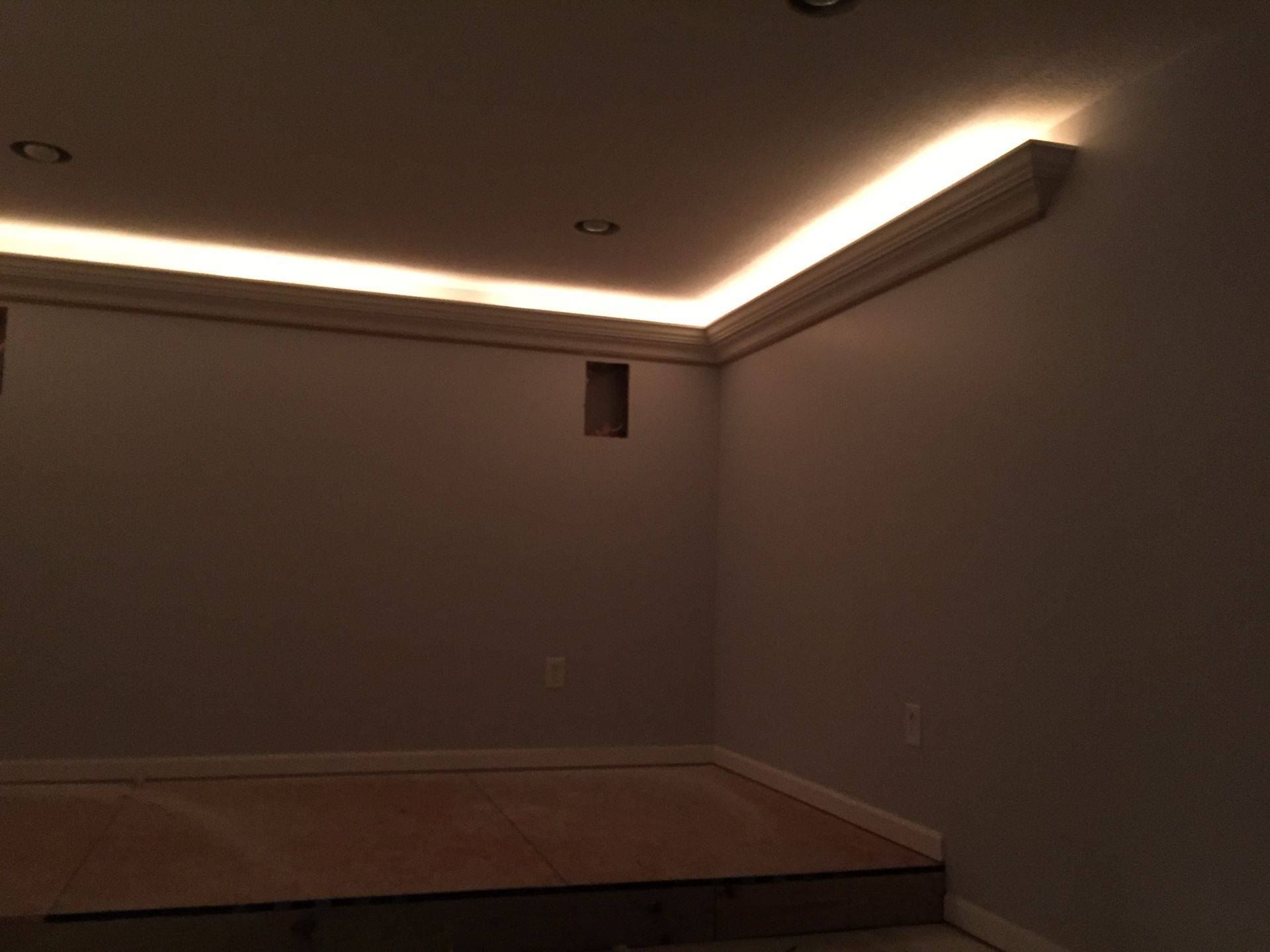 Crown Moulding With Indirect Lighting
