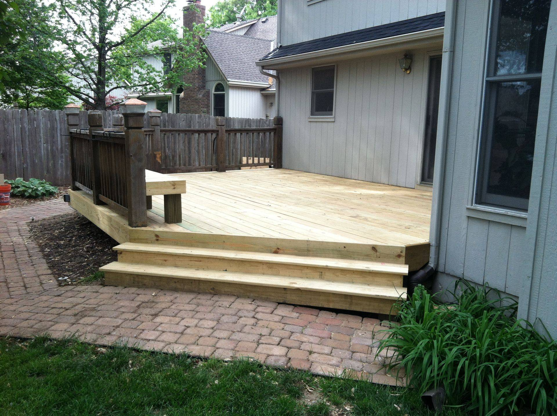 Deck Repair With Bench