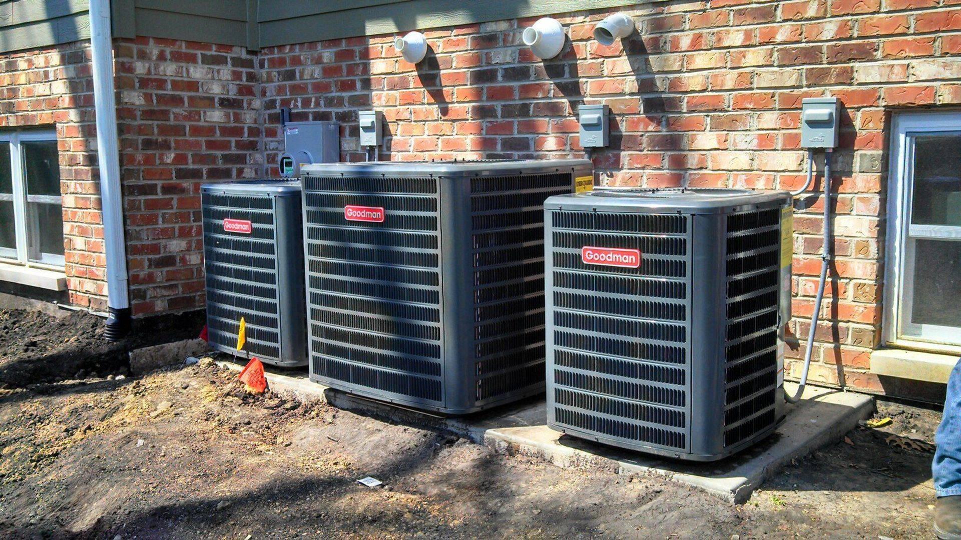 Residential AC installation