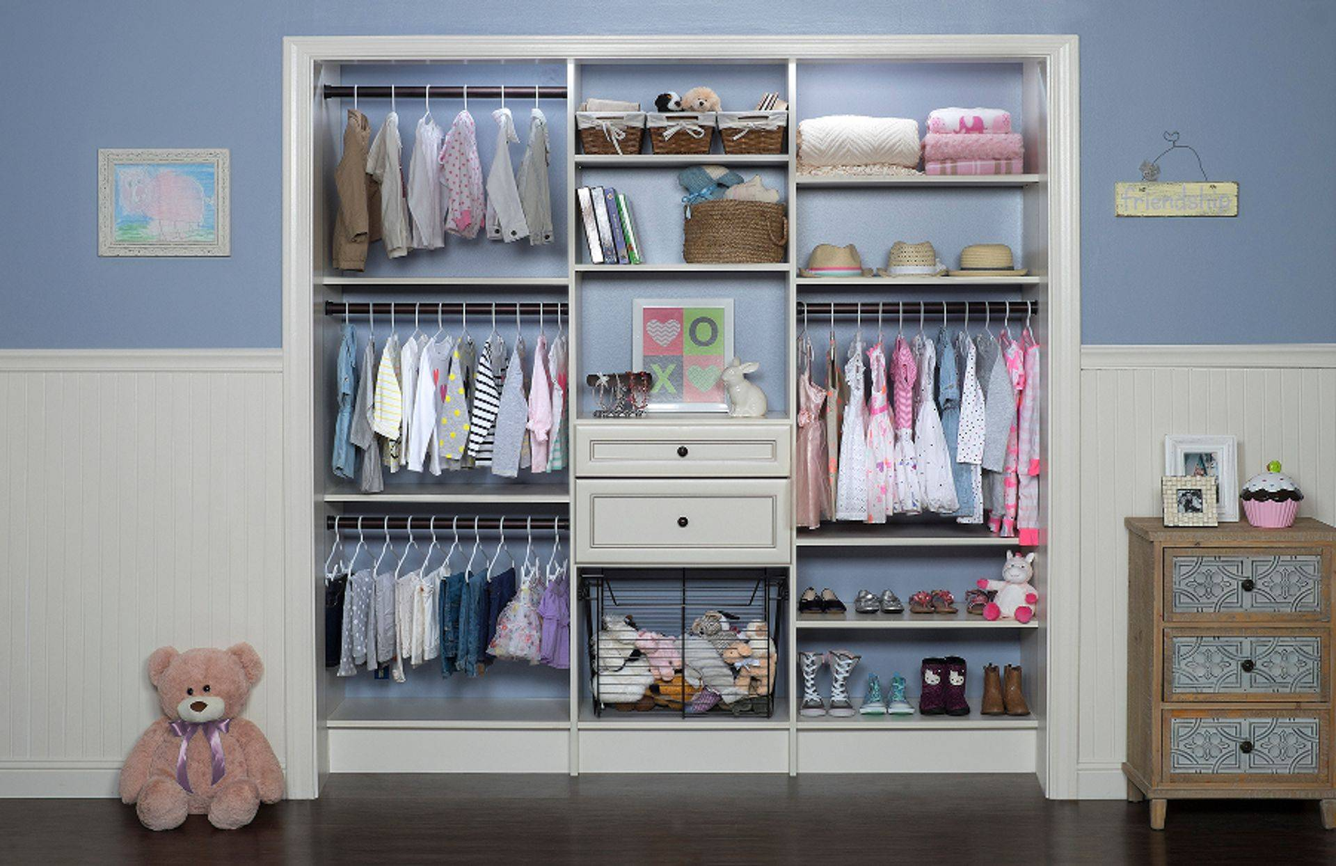 kids triple hang closet