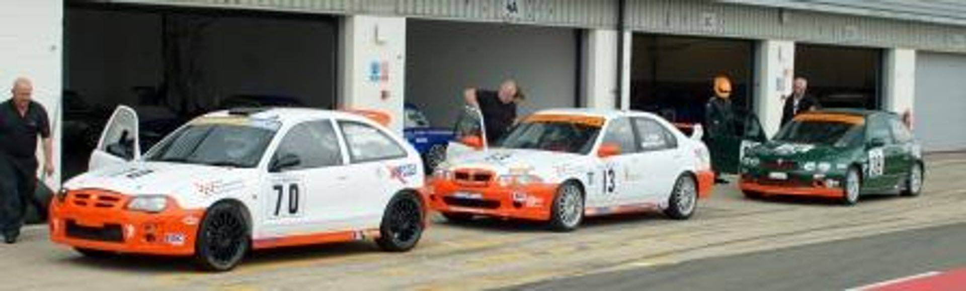 Vulcan Racing team cars MGZS Peter Burchill, MGZR 190 Dan Ludlow & MGZR 160 Dave Brown