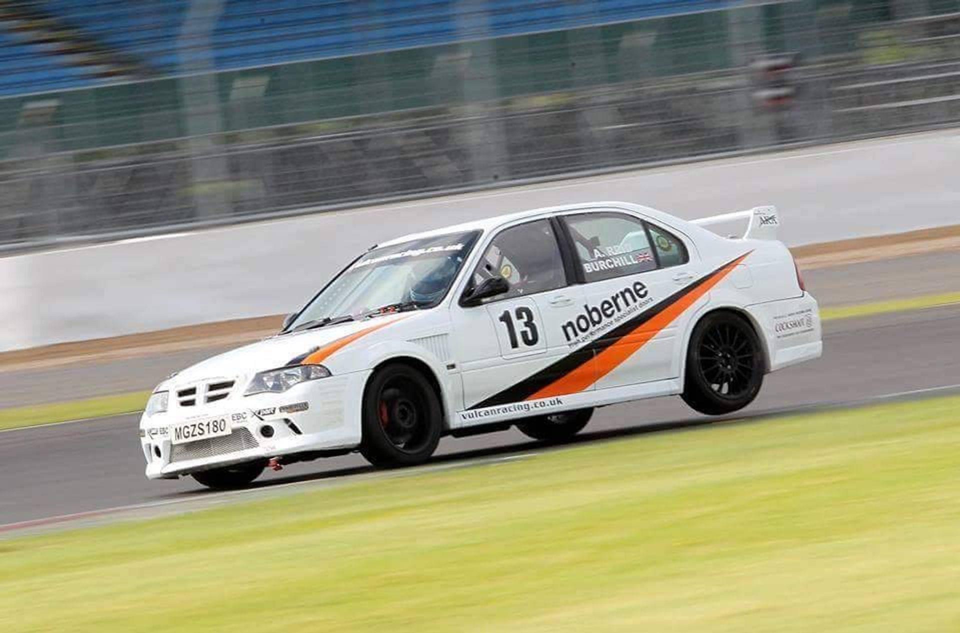 MGZS V6 180 Race Car Vulcan Racing MG Live Sivlerstone