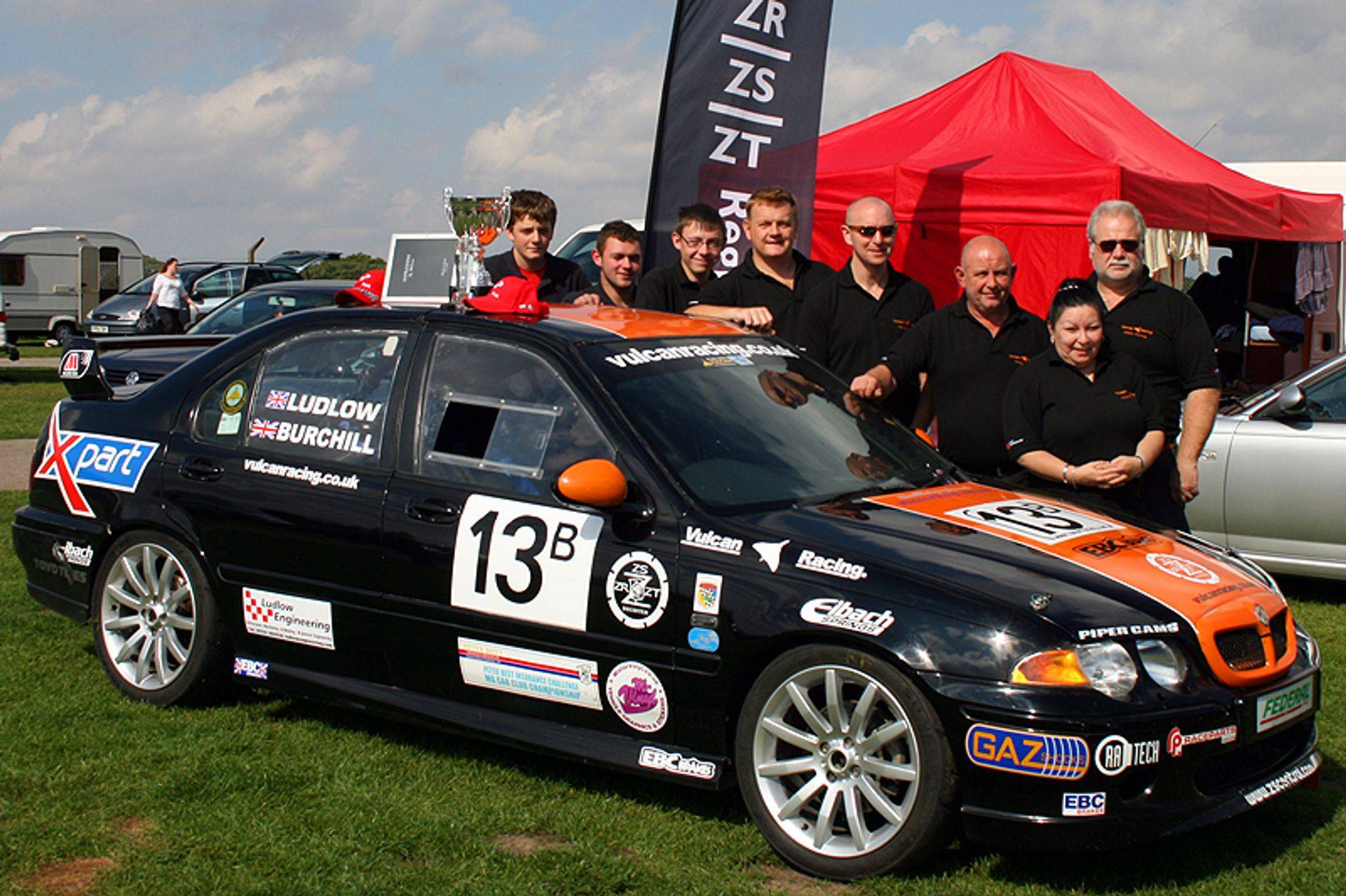 2010 Champions MGZS V6 Vulcan Racing Peter Burchill
