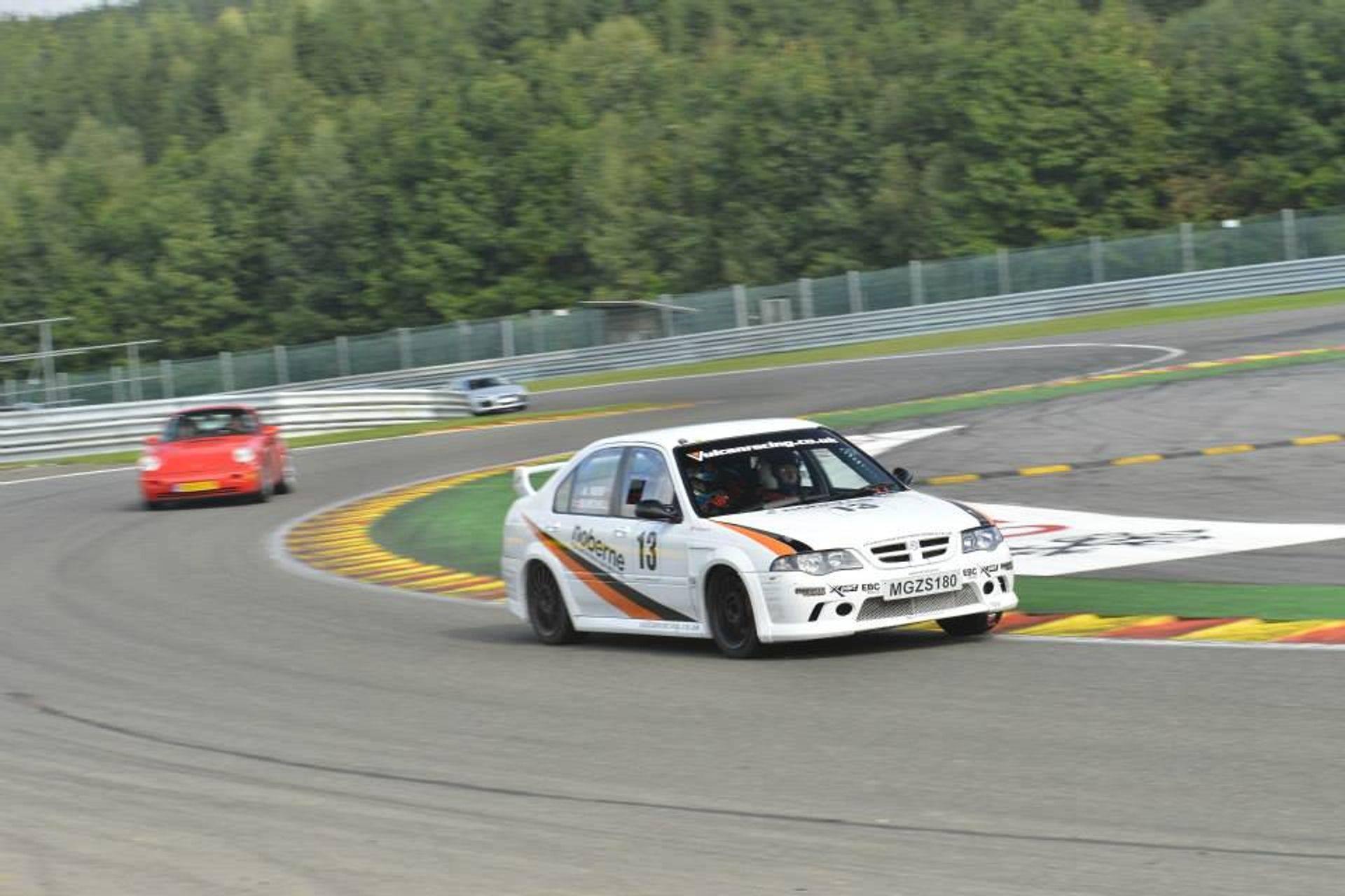 MGZS V6 180 Race Car Vulcan Racing Spa Sponsors event