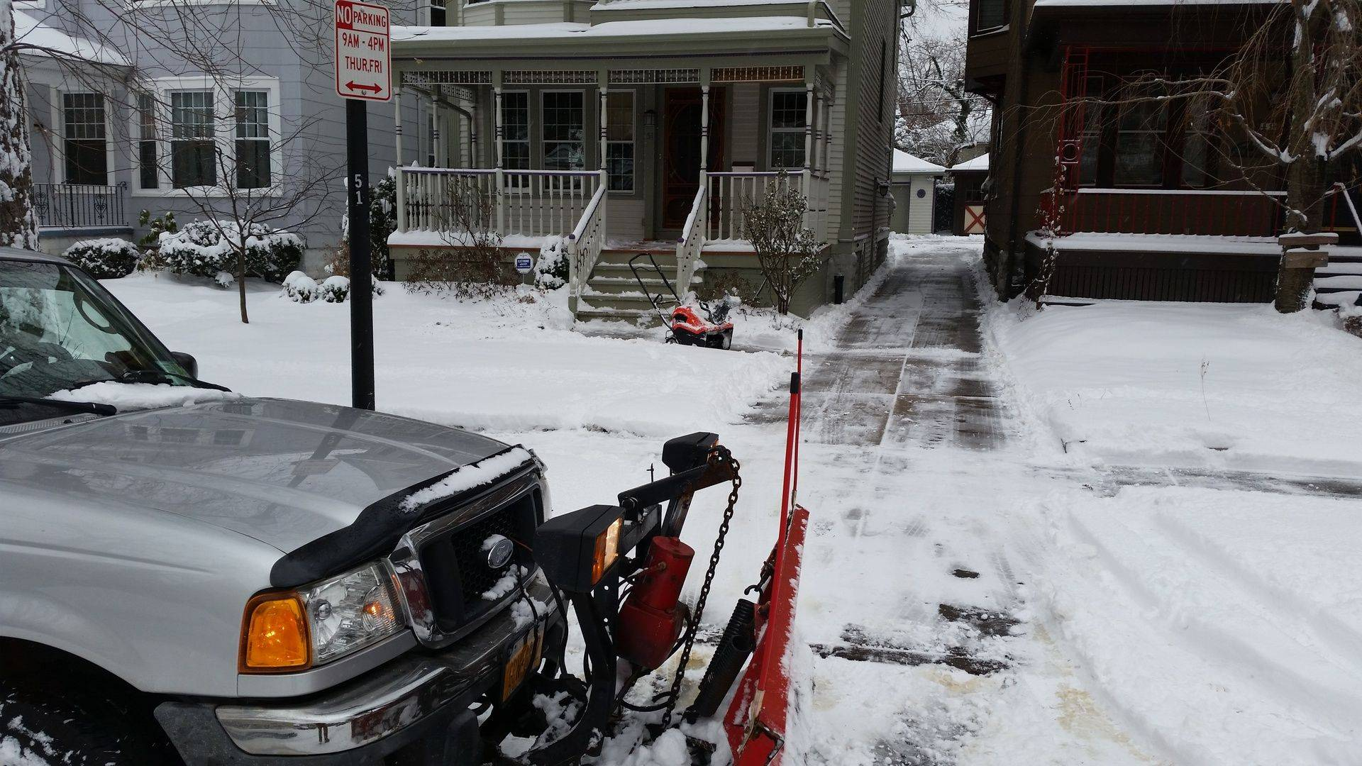 snow plowing service Yard Barber Lawn Service LLC