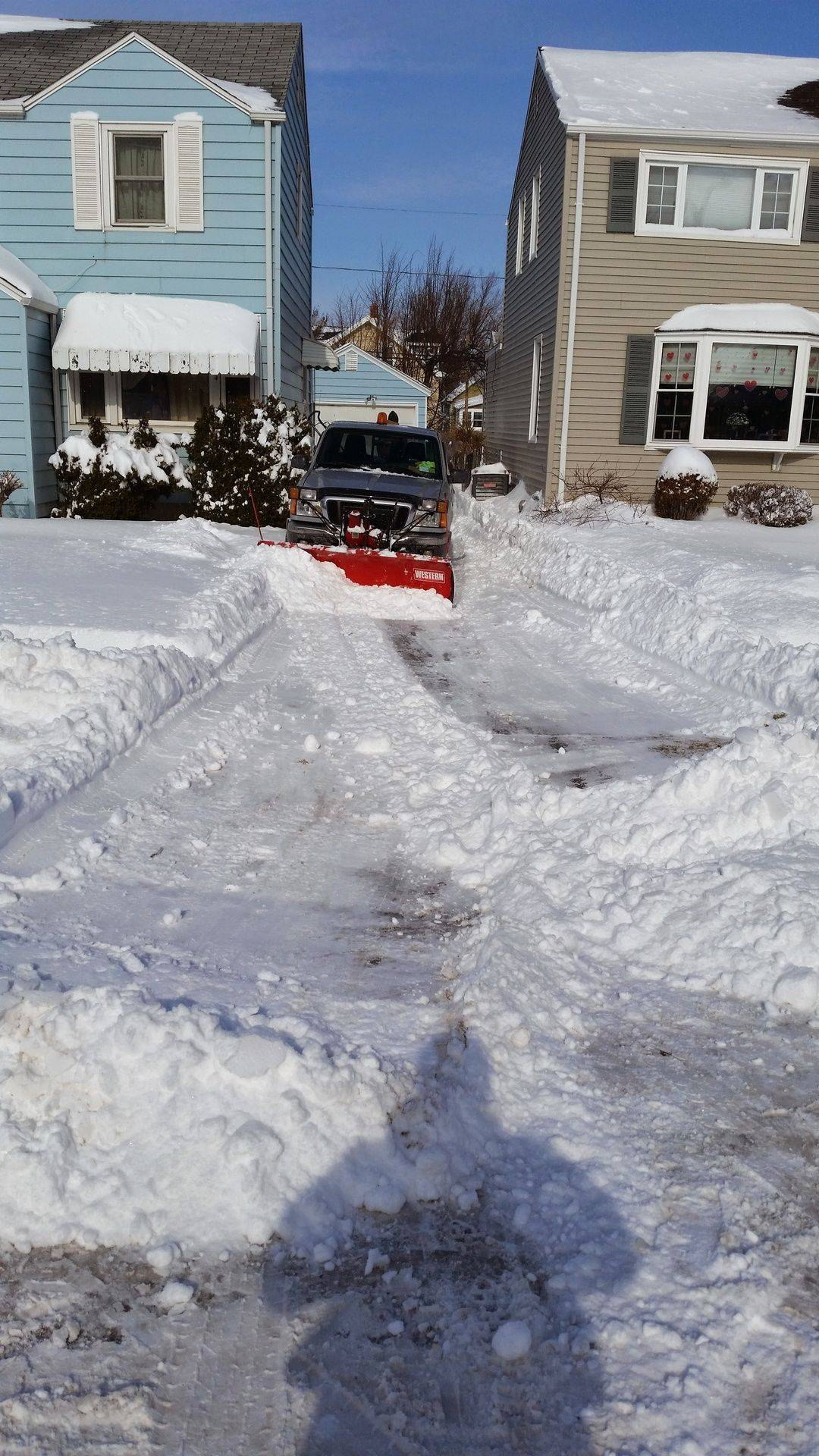 Snow plow and Snow Blow Service Yard Barber Lawn Service LLC