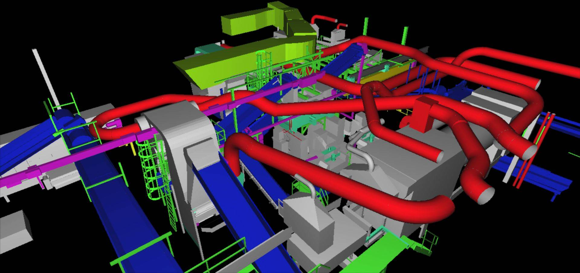 Factory Facilities Clash Detection  from Laser 3D Scanning