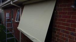 out door canvas blinds patern or plain colour