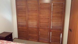 shutters in a bedroom