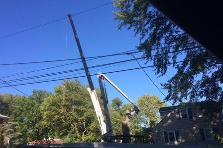 Emergency Crane job in Glen Mills PA right outside of Wilmington DE.