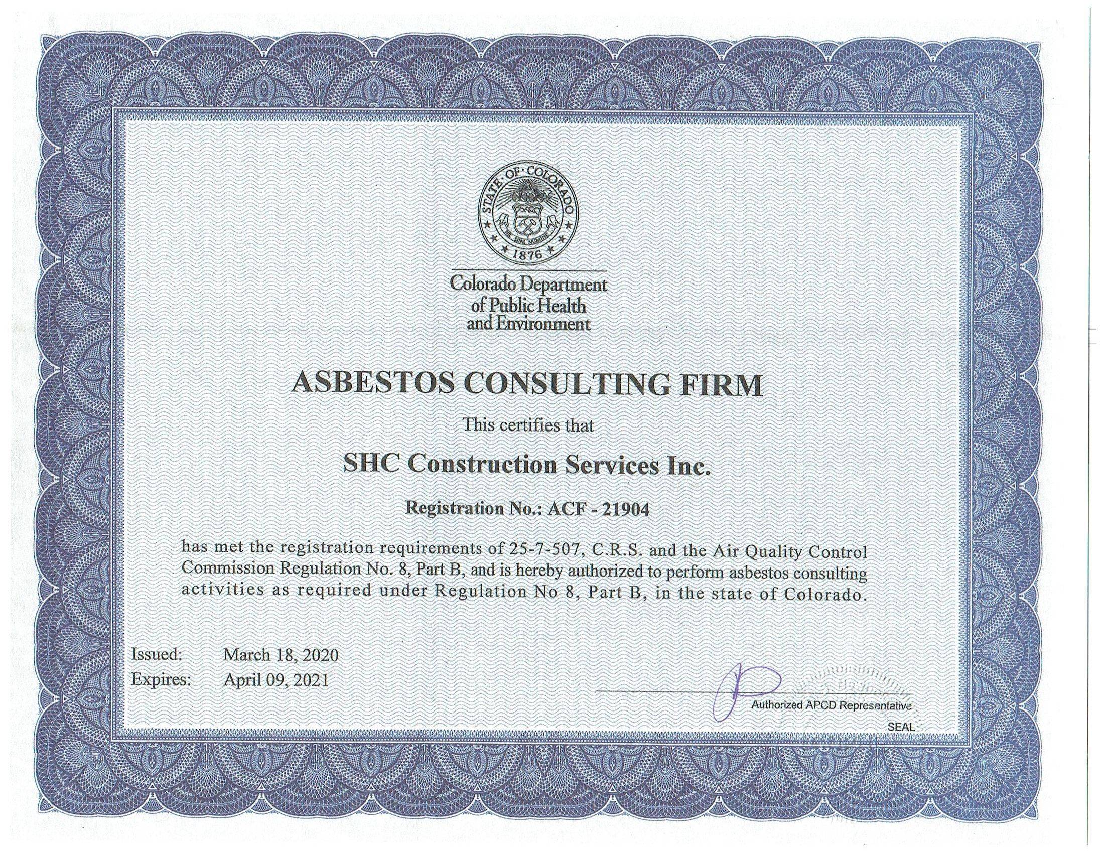 Asbestos Consulting Firm
