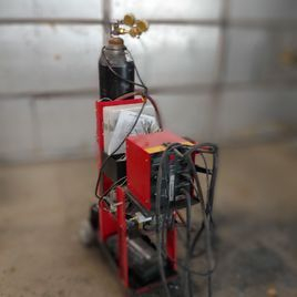 Nitrogen plastic welding