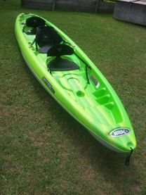 Triple kayak, excellent for 2 adults and a small child
