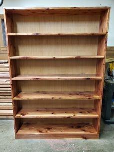 "Red Cedar 49"" wide x 72"" Tall Bookshelf"