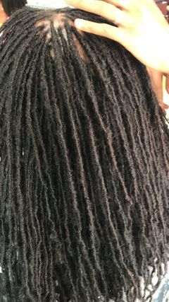 NATURAL SISTERLOCKS WAS SAVED BY REINFORCING WITH INSTANTLOC DREAD EXTENSIONS TECHNIQUES AND METHODS BY BRAIDS BY BEE ONLY
