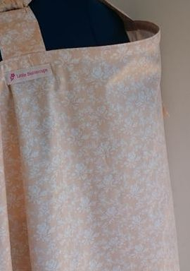 Orange blossom baby nursing cover