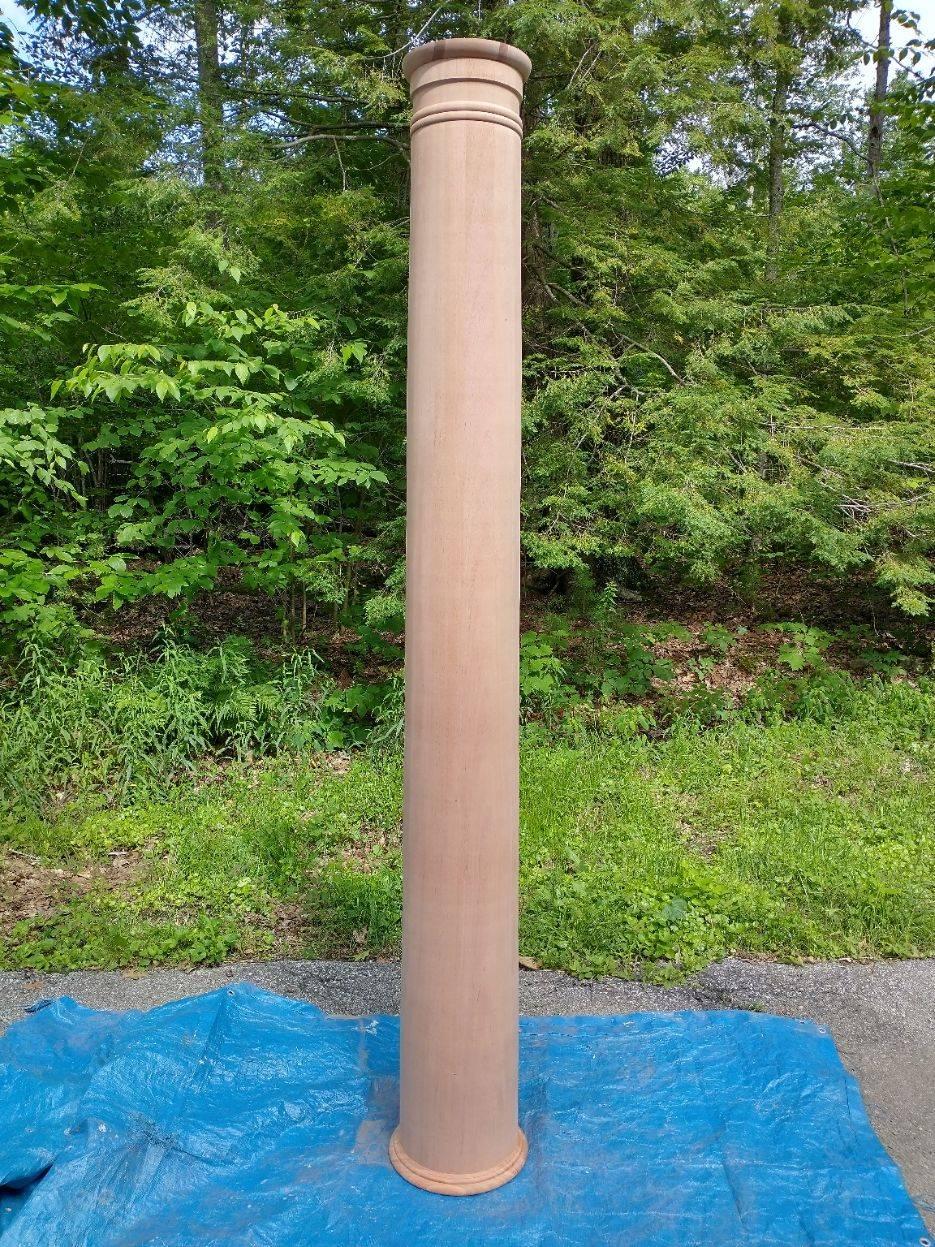 8' tall mahogany column