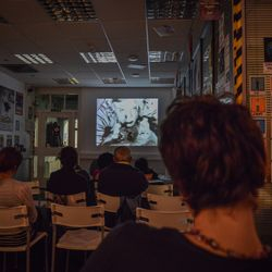 Screenings at Rochester's coFWD, 161 Rochester High st. Photo by Keith Greenfield