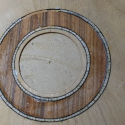 Inlaid rosette - Indian Rosewood on Spruce
