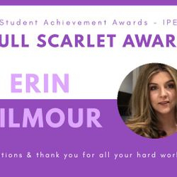 Virtual Society Awards Ball 2020 - Present Erin Gilmour (2018-2020) awarded Full Scarlet!