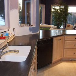 Corian Earth integral sink