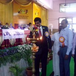 Guest of Honour Lion P.Arumuga Mani, MJF lighting kuthuvilakku