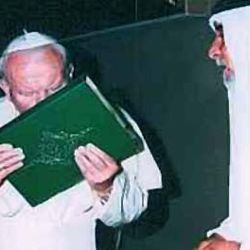 Pope Kissing the Holy Quran.