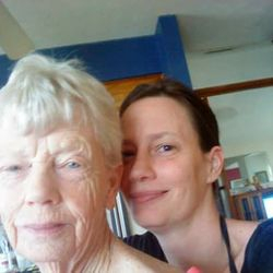 ACS Volunteer Kelly and her Mother.