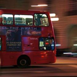 A London night bus.