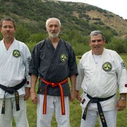 Some more of our favorite people. Kyoshi Todd Stoneking, Soke Hausel and Hanshi Rob Watson
