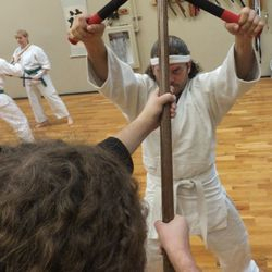 Training in kobudo includes both kata and bunkai (practical applications).