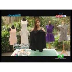 Eresel giving DIY fashion tips on GMA News TV.