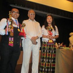 DR.& MRS. MANGTE WITH  FORMER. CHIEF COMMISSIONER OF INDIA. MR. KRISHNAMURTHY, DURING  BHARAT EXCELLENCE AWARD CEREMONY NEW DELHI 2014.