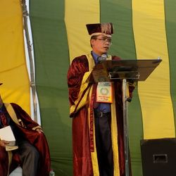 ABTS NINTH GRADUATION EXERCISE-17TH DECEMBER 2015. BISHOP DR PAOGIN MANGTE- FOUNDER & PRESIDENT OF ABTS & OAPCI.