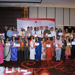 DR. MANGTE WITH HIS FELLOW ECONS EDUCATION EXCELLENCE AWARD RECIPIENTS-NEW DELHI 2014.