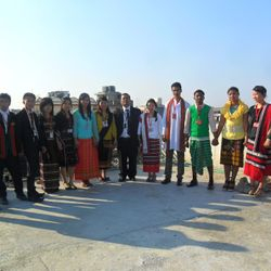 ABTS RESIDENTIAL STUDENTS DISPLAYED THEIR TRADITIONAL DRESSES.