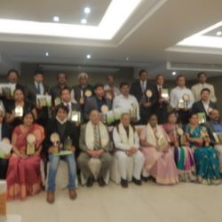 DR.P.MANGTE,DURING MOTHER TERESA EXCELLENCE AWARD CEREMONY AT BANGALORE.