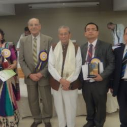 DR.P.MANGTE, FOUNDER ABTS NEW DELHI RECEIVED A MOTHER TERESA EXCELLENCE AWARD-2013 DECEMBER, FROM BANGALORE.