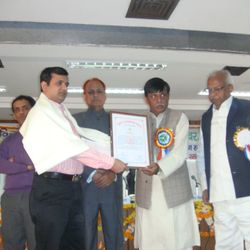 UP-CST-Young Scientist Award with Hon. S & T Minister of UP State (INDIA)