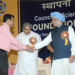CSIR-Young Scientist Award with Hon. Prime Minister of India- Dr. Manmohan Singh