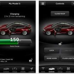 © Tesla … THE TESLA MODEL S MOBILE APP ENABLES YOU TO DO THINGS CHECK YOUR CAR'S BATTERY CHARGE OR EVEN PRE-COOL YOUR CAR BEFORE GETTING INTO IT.