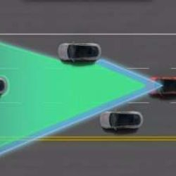 © Tesla … THE CAR ALSO HAS IMPROVED SAFETY FEATURES, LIKE ITS PARTIAL AUTO-PILOT FUNCTIONS. USING A FORWARD LOOKING CAMERA, RADAR, AND 360 DEGREE SONAR SENSORS WITH REAL-TIME TRAFFIC UPDATES, THE AUTOPILOT FEATURE ENABLES AUTOMATIC DRIVING ON BOTH THE HIGHWAY AND IN STOP AND GO TRAFFIC. NOT TO MENTION, IT CAN ALSO DETECT A PARKING SPOT AND PARK ITSELF.