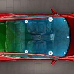 © Tesla … WITH THE HIGH FIDELITY SOUND UPGRADE, YOU'LL GET 12 SPEAKERS STRATEGICALLY POSITIONED THROUGHOUT THE VEHICLE, SO JAMMING OUT IN THE CAR WON'T BE A PROBLEM.