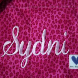 This blanket is for Sydni!  She has a seizure disorder.  She decided on princesses and cheetah print.
