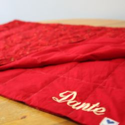 This blanket was made for Dante, who picked out his red and starry fabric!