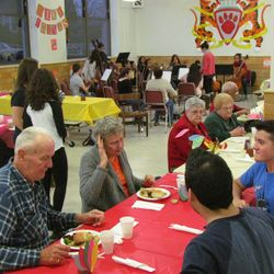Senior Citizens gather for our annual Thanksgiving Dinner, held in the BHS cafeteria.